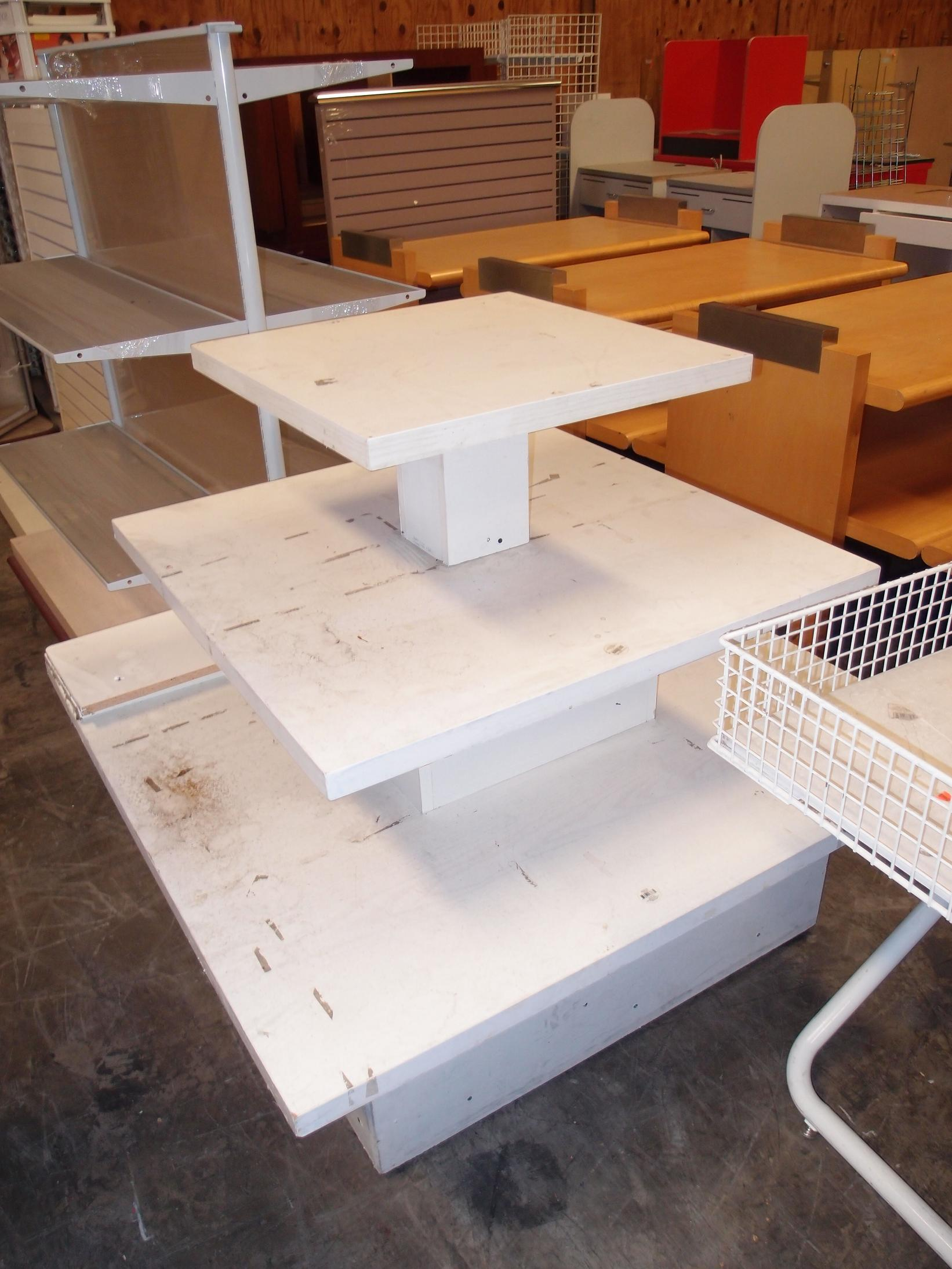 Used Display Tables ~ Used shoe display tables reeves store fixtures